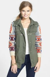 Thread andamp Supply Aztec Sleeve Anorak at Nordstrom