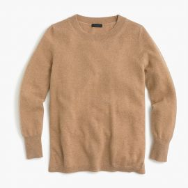Three-quarter sleeve everyday cashmere crewneck sweater at J. Crew