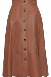 Tianna leather midi skirt by Iris & Ink at The Outnet