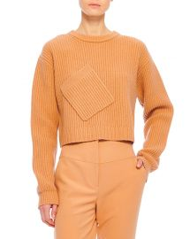 Tibi Airy Extrafine Wool Sweater at Neiman Marcus