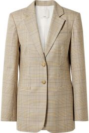 Tibi - Cooper oversized Prince of Wales checked wool and silk-blend blazer at Net A Porter