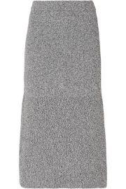 Tibi - Fluted m  lange knitted midi skirt at Net A Porter