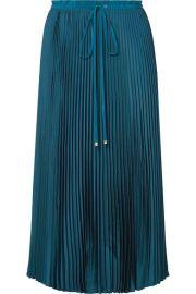 Tibi - Mendini pleated twill midi skirt at Net A Porter
