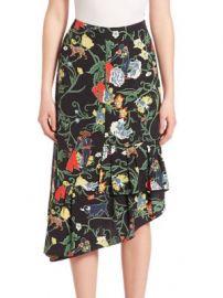 Tibi - Seville Silk Asymmetrical Ruffle Skirt at Saks Fifth Avenue