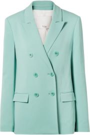Tibi - Steward oversized double-breasted stretch-crepe blazer at Net A Porter