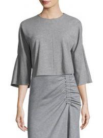 Tibi - Three-Quarter Sleeve Top at Saks Fifth Avenue