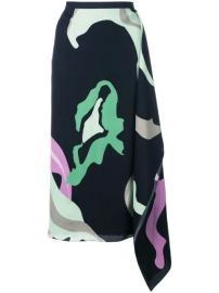 Tibi Ant Farm Print Asymmetric Skirt - Farfetch at Farfetch