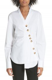 Tibi Asymmetrical Large Button Top at Nordstrom