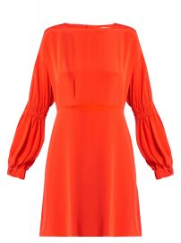 Tibi Balloon sleeved silk crepe dress at Matches