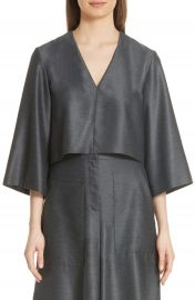 Tibi Bell Sleeve Drape Top at Nordstrom