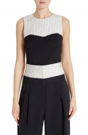 Tibi Colorblock Corset Top at Nordstrom