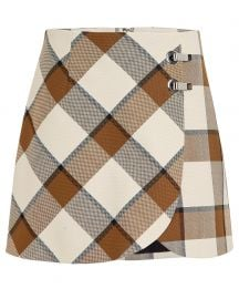 Tibi Dylan Plaid Skirt at Intermix