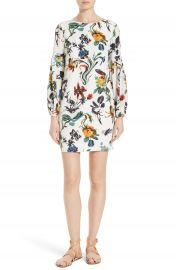 Tibi Gothic Floral Silk Shift Dress at Nordstrom