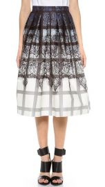 Tibi Lace Plaid Ombre Skirt at Shopbop