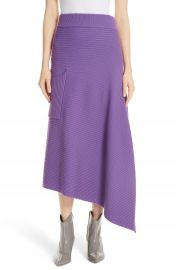 Tibi Ribbed Merino Wool Asymmetrical Skirt   Nordstrom at Nordstrom