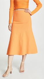 Tibi Ribbed Skirt at Shopbop
