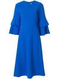 Tibi Structured Bell Sleeve Midi Dress at Farfetch