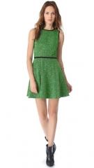 Tibi Tweed Knit Flared Dress at Shopbop