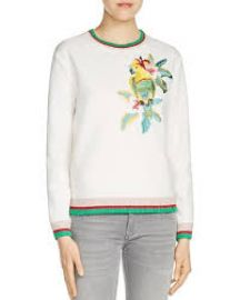 Tibio Neoprene Sweatshirt by Maje x at Bloomingdales