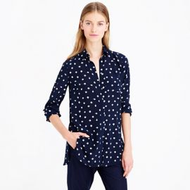 Ticktock Print Blouse at J. Crew
