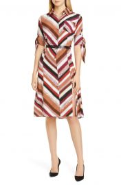 Tie Detail Silk Shirtdress at Nordstrom