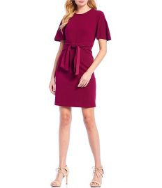Tie front crepe dress at Zappos