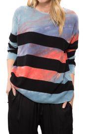 Tie Dye Crop Sleeve Boxy Crew by Raquel Allegra at Diani Boutique