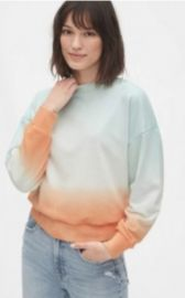 Tie-Dye Cropped Sweatshirt in French Terry by Gap at Gap