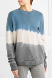 Tie Dye Palm Sweater by The Elder Statesman at Elder Statesman