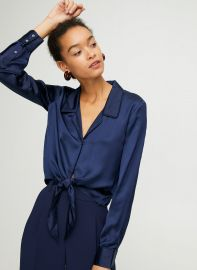 Tie-Front Blouse at Aritzia