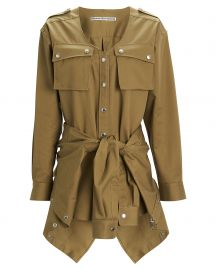 Tie-Front Cargo Cotton Trench Romper by Alexander Wang at Intermix