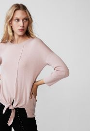 Tie Front Crew Neck Sweater at Express
