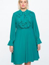 Tie Front Dress by Eloquii at Eloquii