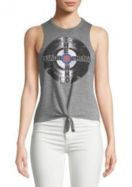 Tie Front Muscle Tank Top by Chaser at Saks Off 5th