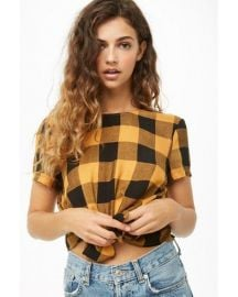 Tie Front Plaid Top by Forever 21 at Forever 21