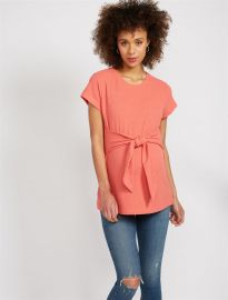 Tie Front Textured Maternity Top by A Pea in the Pod at A Pea in the Pod