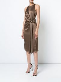 Tie Knot Detail Dress by Halstson Heritage at Farfetch