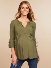 Tie Sleeve Maternity Blouse at Motherhood