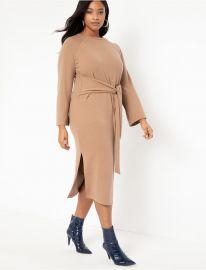 Tie Waist Knit Dress by Eloquii at Eloquii