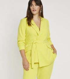 Tie Waist Long Blazer by Eloquii at Eloquii