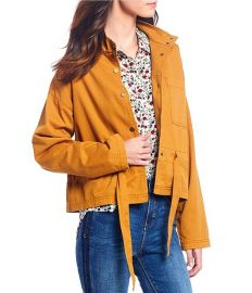 Tie Waist Safari Jacket at Dillards