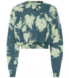 Tie-dye printed cotton sweater at Mytheresa