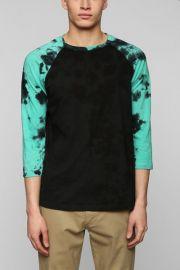 Tie dye sleeve raglan tee at Urban Outfitters