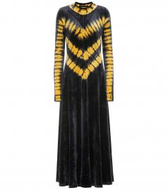 Tie-dye velvet maxi dress at Mytheresa