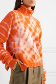 Tie-dyed wool turtleneck sweater at Net a Porter