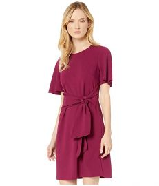 Tie front crepe dress at Dillards
