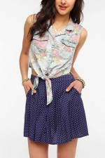 Tie front floral shirt at Urban Outfitters at Urban Outfitters