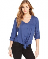 Tie front shirt by Jessica Simpson at Macys