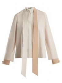 Tie neck blouse by Fendi at Matches