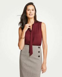 Tie neck shell at Ann Taylor